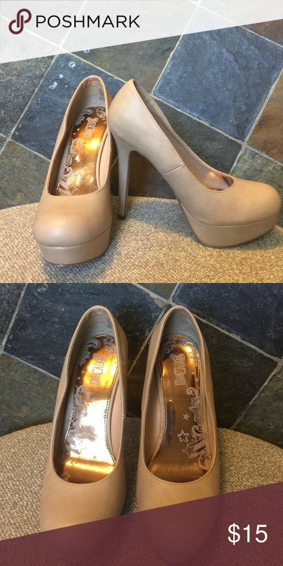Beige pumps Too high for me but they sure are adorable Shoes
