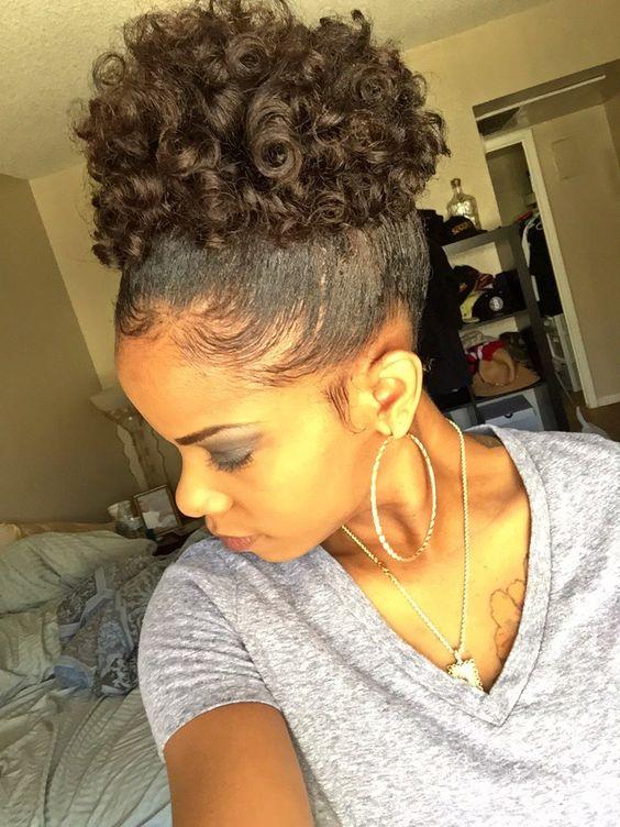 Make short natural hair lay down