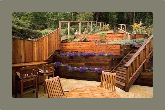 Deck Ideas For Steep Backyard : entertaining deck design stand in house plans decks landscapes google