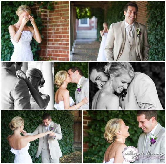 First Look Ideas | weddings | See each other before the ceremony! :: Maggie Coursey Photography