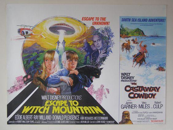 the castaway cowboy disney movie poster shared billing. Black Bedroom Furniture Sets. Home Design Ideas