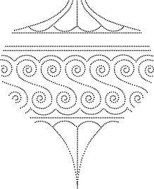 Memory Box - Drop Ornament Outline