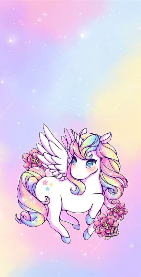 Unicorn Pastel Phone Wallpaper With Images Unicorn Wallpaper Cute