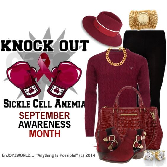 """SICKLE CELL AWARENESS"" (OUTFIT ONLY) Contest: ""Knock It Out"" by enjoyzworld on Polyvore"