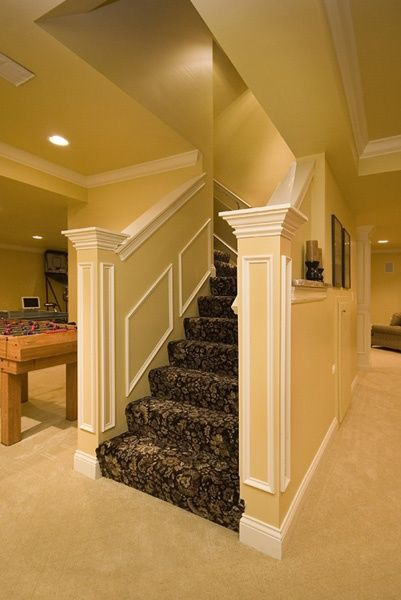 Basement Ideas - Design | Finishing | Remodeling....love the entrance, but not the carpet on the stairs..
