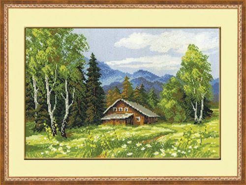 Riolis Broderie Point de Croix Compté Paysage Chalet Suisse Cross Stitch Kit | eBay