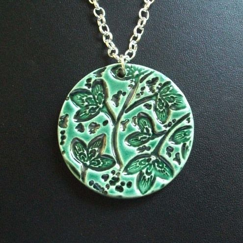 Different shades of green pendant