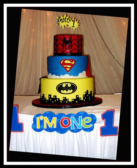 Superhero Birthday Cake party Pinterest Superhero birthday