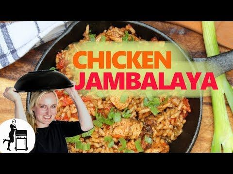 Chicken Jambalaya Macht Sich Fast Von Alleine Mit Saftigem Reis Huhnchefleisch Wurst Und Vielen Gewurzen Inklus In 2020 Jambalaya Rezept Einfache Gerichte Jambalaya