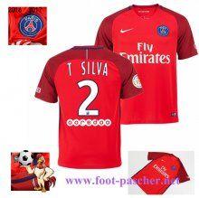 Ligue 1: Maillot Football Paris Saint-Germain Rouge (T SILVA 2) Exterieur 2016…
