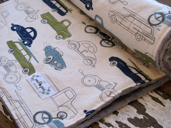 Baby Boy - Retro Rides in Navy, Olive & Grey - Minky Baby Blanket in Cars and Trucks by theposhpeaboutique on Etsy https://www.etsy.com/listing/159263825/baby-boy-retro-rides-in-navy-olive-grey
