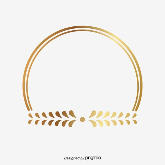 Golden Circle Frame Leaf Shape Gold He Leaves Of Rice Png And Vector With Transparent Background For Free Download Bingkai Lencana Bingkai Foto