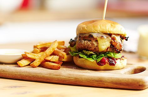 Created by John Gregory-Smith, our ultimate Christmas burger will get the whole family feeling festive. Find more Christmas recipes at Tesco Real Food.