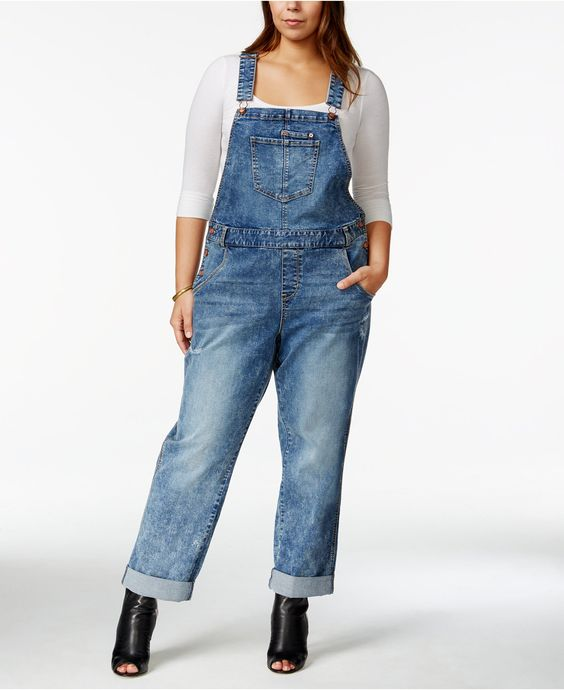 American Rag Plus Size Ripped Remy Wash Overalls, Only at Macy's - Pants - Plus Sizes - Macy's: