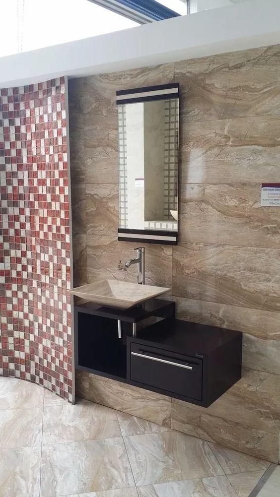 Muebles de ba o economicos lavabo de marmol moderno - Banos de marmol ...