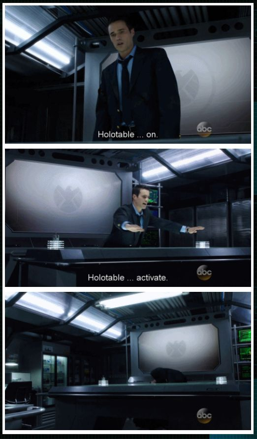 Ward can't work the holotable. gif  Agents of SHIELD.