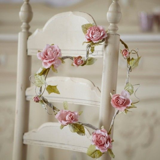 Wreaths wedding decorations and roses on pinterest for Heart shaped decorations home