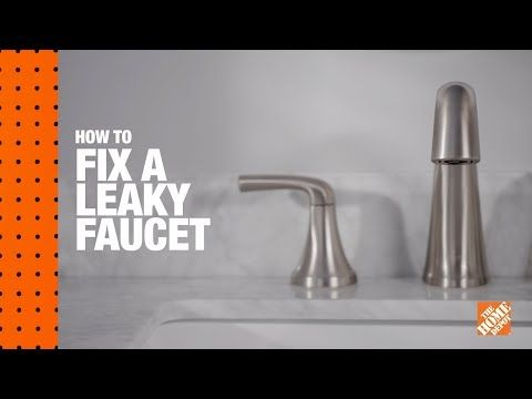 Home Depot How To Fix A Leaky Faucet Repairing A Leaky Bathroom Faucet Is A Quick Inexpensive Fix That Even The Most Leaky Faucet Fix Leaky Faucet Home Fix