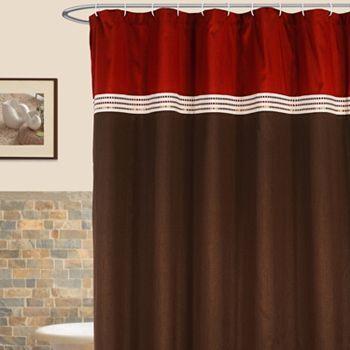 Lush Decor Terra Striped Fabric Shower Curtain Kohls