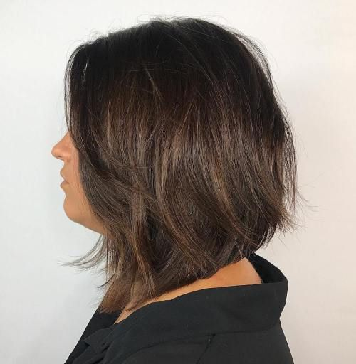 7 Takes On This Fall S Trendiest Most Versatile Haircut Thick Hair Styles Bob Hairstyles Choppy Bob Hairstyles