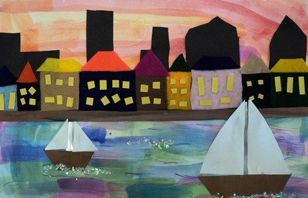 """""""city by the bay"""" 3rd grade, these are lovely!   # Pin++ for Pinterest #"""