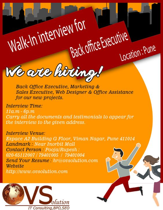 Walk In For Back Office Executive In Pune,India Jobs Pinterest - back office executive resume