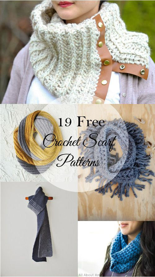 19 Free Patterns for Pretty Crochet Scarves - You can never have enough scarves! Make yourself a new one with this list of free crochet scarf patterns.: