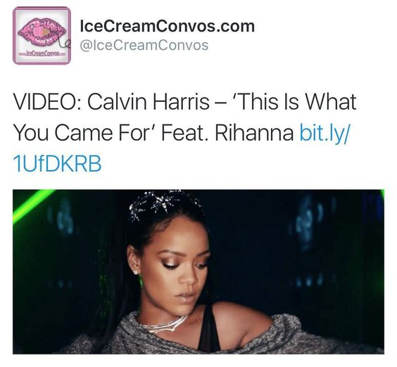 Watch now at IceCreamConvos.com or the ICC app!  #Rihanna #CalvinHarris #Video