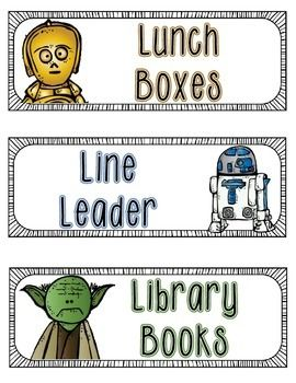 Perfect for your Star Wars themed classroom! This download includes a header that measures 8 1/2 x 20that reads CLASSROOM HELPERS (in Star Wars font). There are 12 pre-printed classroom jobs. In addition there is a complete set of blank NON EDITABLE cards for you to personalize with your own job titles.