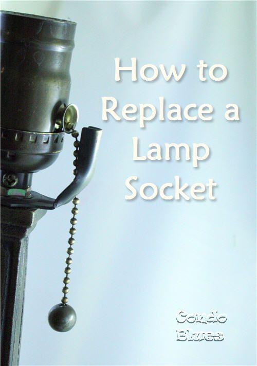 fix a broken lamp socket yourself tutorial from condoblues. Black Bedroom Furniture Sets. Home Design Ideas