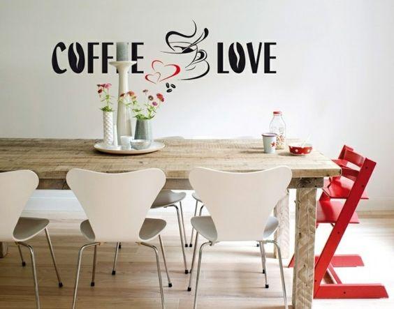 deko ideen küche wandsticker kaffeesprüche wanddekoration   pinterest - Wanddekoration Küche
