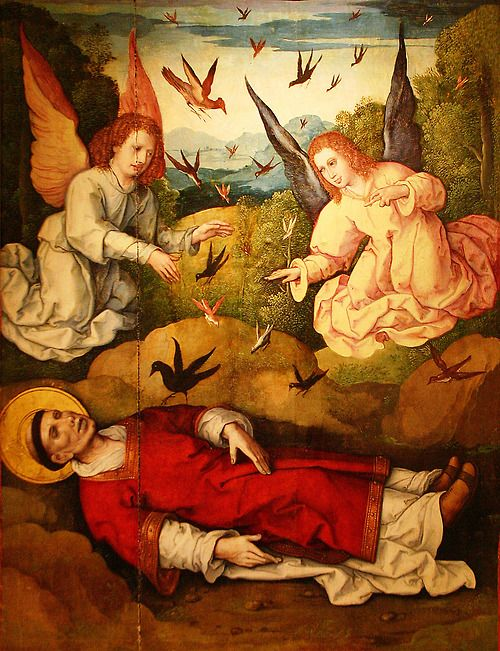 León Picardo The Body of Saint Vincent being watched by a Crow  retable, 1524