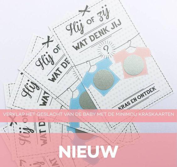 HIJ of ZIJ, Wat denk jij? kraskaarten waarmee je het geslacht van je ongeboren baby verklapt aan vrienden en familie.
