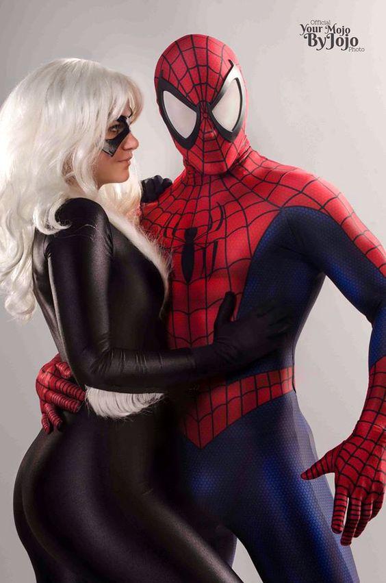 Spiderman fucking black cat