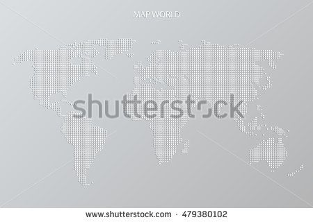 World Cup of Hockey abstract world map vector background, grey color. Sport…