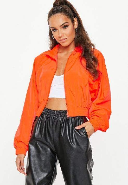 jaqueta neon laranja