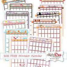2012 Monthly Calendar