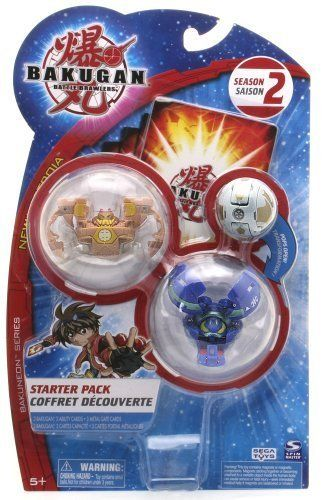 "Bakugan Battle Brawlers Season 2 Bakuneon Series, New Vestroia Starter Pack - "" NOT Randomly Picked"", Shown As In The Picture! (H) by Spin Master. $15.99. For age 5 and up. Bakugan Battle Brawlers Season 2 Bakuneon Series, New Vestroia Starter Pack. Warning! Risk of serious digestive injuries in the event that magnets are swallowed!. ""NOT"" randomly picked, you are getting what is shown in the picture.. Starter pack includes: 3 Bakugan, 3 ability cards, and 3 me..."