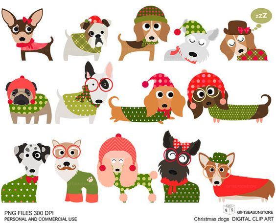 free christmas clip art with dogs - photo #15