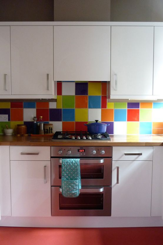Stylish And Colorful Kitchen Backsplash Ideas Kitchen Colors