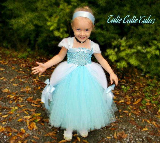 Cinderella Inspired Disney Princess Tutu Dress