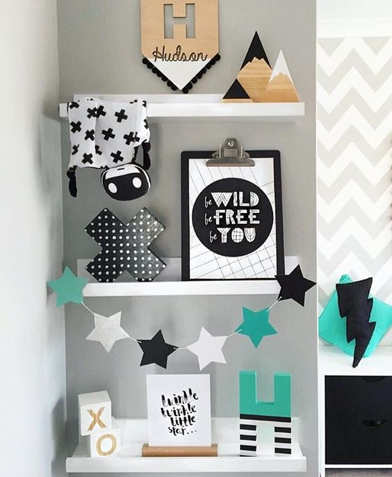 @alicia_and_hudson can do no wrong  I spy our timber mountains and dipped triangle in black and white...the perfect #shelfie addition