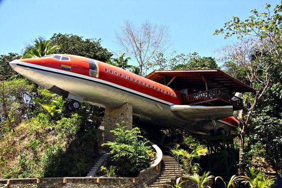 Hotel Costa Verde – Un Boeing 727 transformé en suite de luxe !  #hotel #design