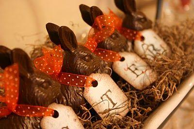 faux chocolate bunnies