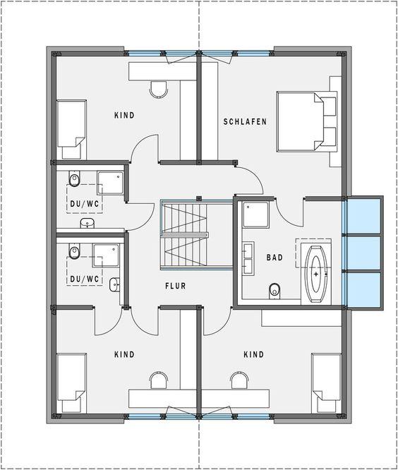 grundriss obergeschoss huf haus modum 8 10 architecture pinterest haus. Black Bedroom Furniture Sets. Home Design Ideas