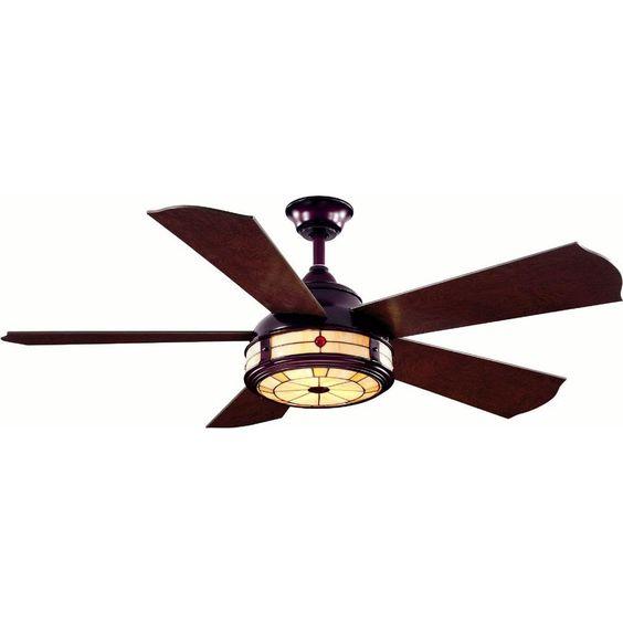 Hampton Bay High Velocity Fan : Hampton bay savona in weathered bronze ceiling fan