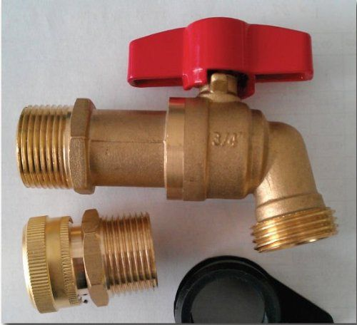 Earthminded Frn051 Brass Spigot And Drain Upgrade Kit Click Image To Review More Details This Is An Affiliate Water Barrel Rain Water Barrel Rain Barrel