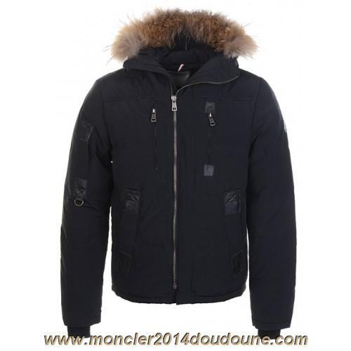 Doudoune Moncler Homme Court Cotonnade Noir