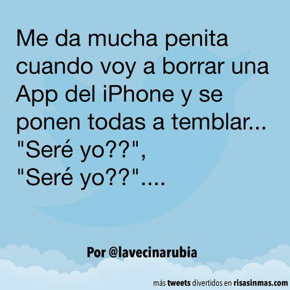 Borrando apps del iPhone. #humor #risa #graciosas #chistosas #divertidas