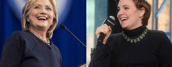 Hillary Clinton (Scott Eisen/Getty Images) and Lena Dunham (Daniel Zuchnik/WireImage via Getty Images)